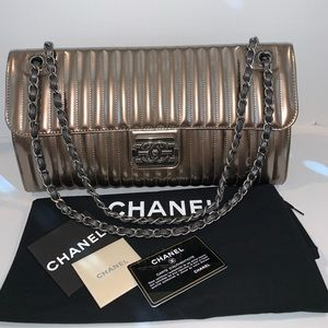 Chanel Maharaja Express Patent Flap Bag - Pewter